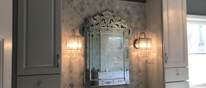 marble master bath vanity