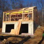 Pool house foundation & framing.